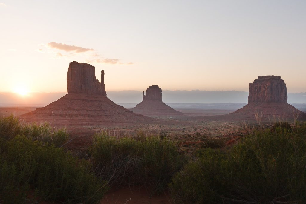 Three Mittens in Monument Valley