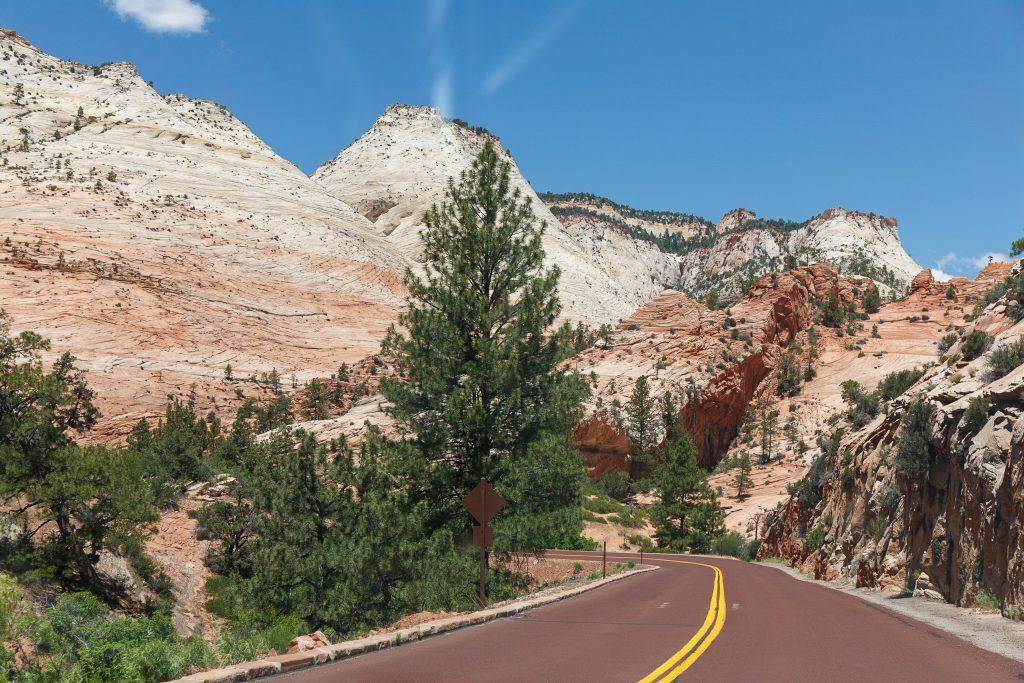 Zion - Mount Carmel Highway in Zion National Park