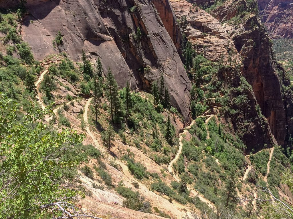 Trail naar Observation Point in Zion National Park