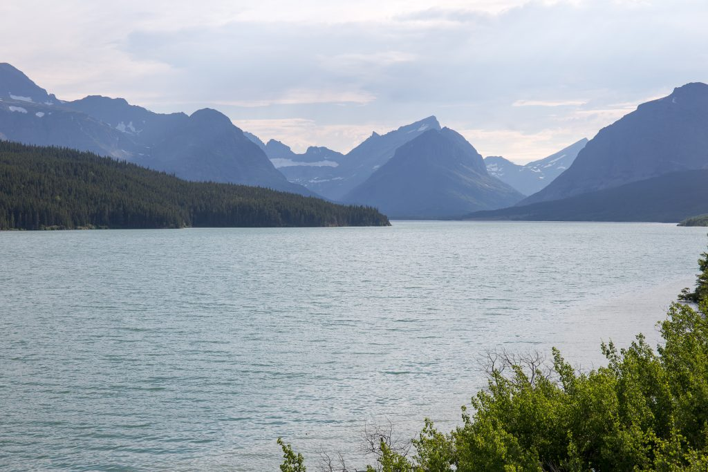 Lake Sherburne in Glacier National Park