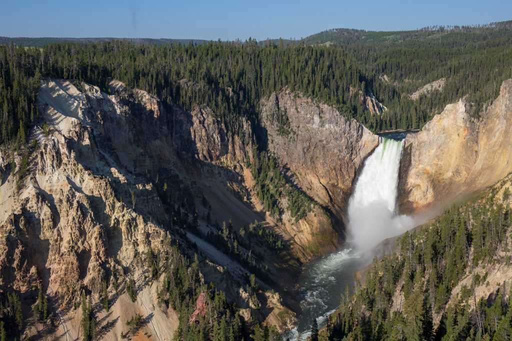 Lower Yellowstone Falls vanaf Lookout Point