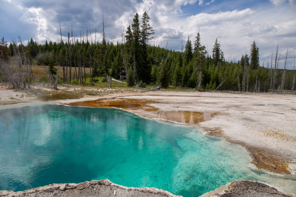 Abyss Pool in West Thumb Geyser Basin, Yellowstone National Park